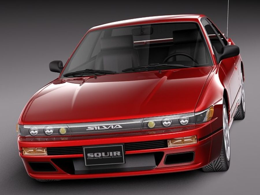 Nissan Silvia K S13 1989–1994 royalty-free 3d model - Preview no. 2