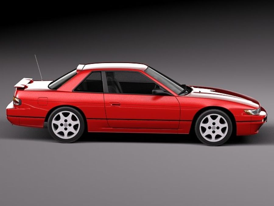 Nissan Silvia K S13 1989–1994 royalty-free 3d model - Preview no. 7