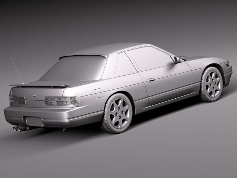 Nissan Silvia K S13 1989–1994 royalty-free 3d model - Preview no. 12