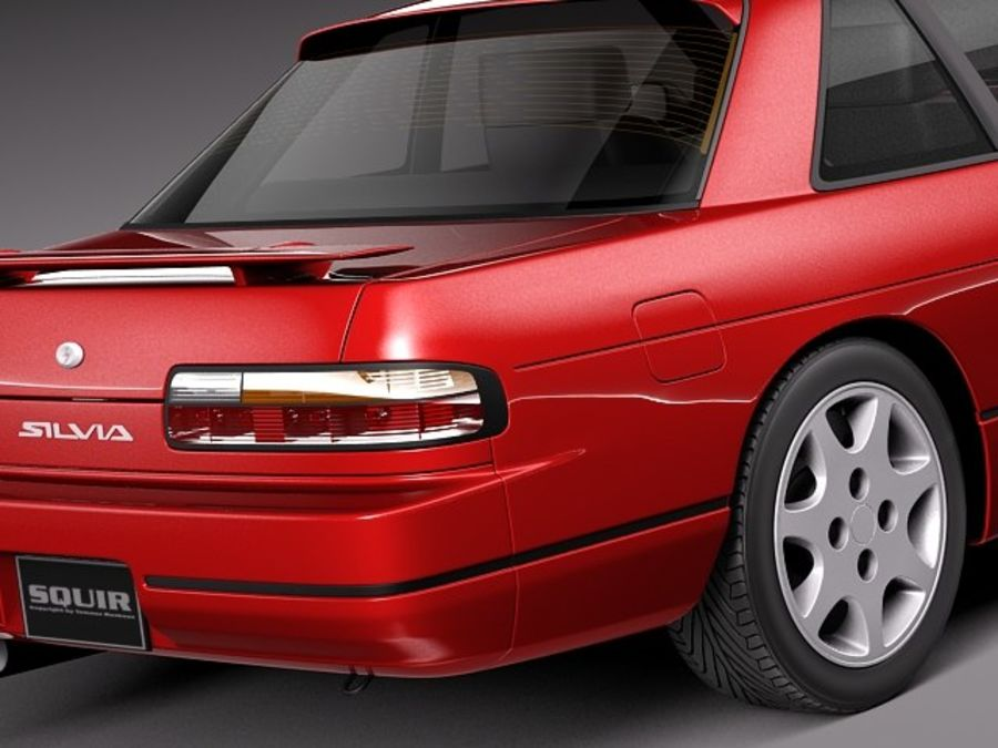 Nissan Silvia K S13 1989–1994 royalty-free 3d model - Preview no. 4