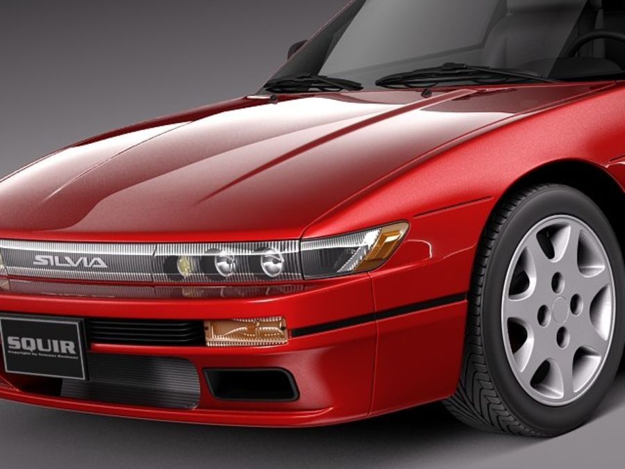 Nissan Silvia K S13 1989–1994 royalty-free 3d model - Preview no. 3