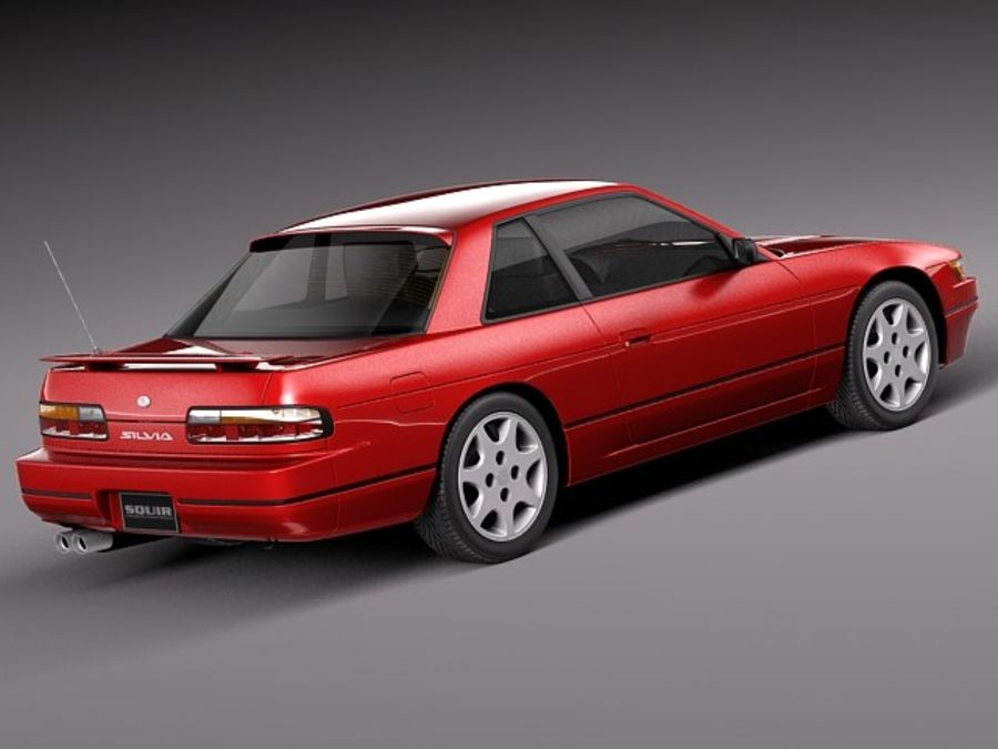 Nissan Silvia K S13 1989–1994 royalty-free 3d model - Preview no. 5