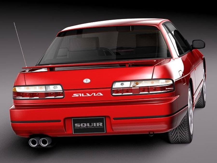 Nissan Silvia K S13 1989–1994 royalty-free 3d model - Preview no. 6
