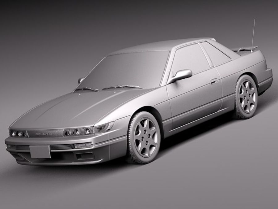 Nissan Silvia K S13 1989–1994 royalty-free 3d model - Preview no. 9