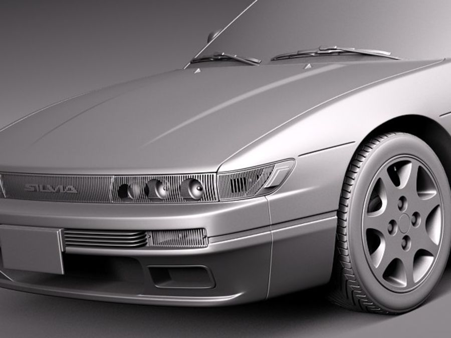 Nissan Silvia K S13 1989–1994 royalty-free 3d model - Preview no. 10