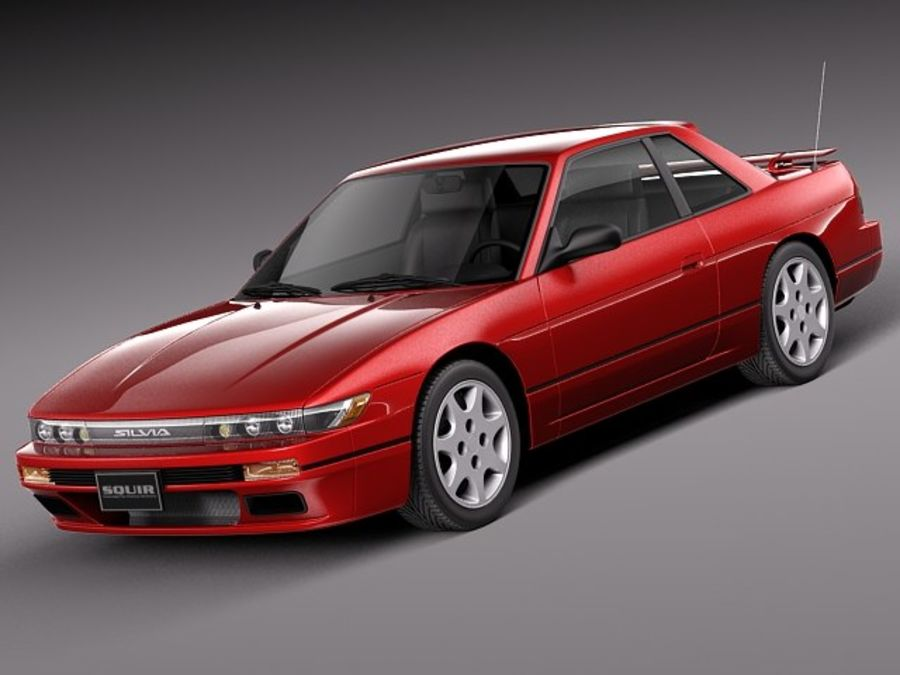 Nissan Silvia K S13 1989–1994 royalty-free 3d model - Preview no. 1