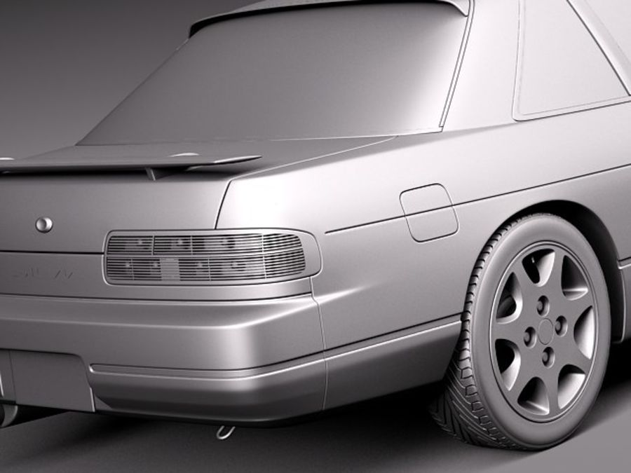 Nissan Silvia K S13 1989–1994 royalty-free 3d model - Preview no. 11