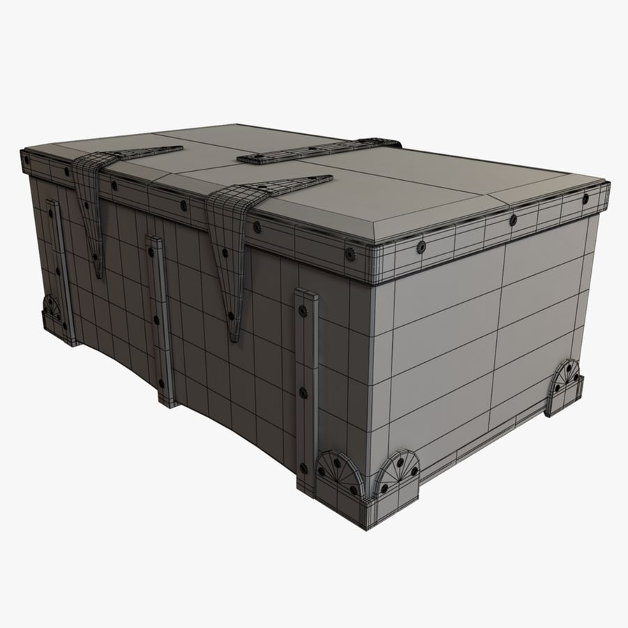 Antique Trunk royalty-free 3d model - Preview no. 8