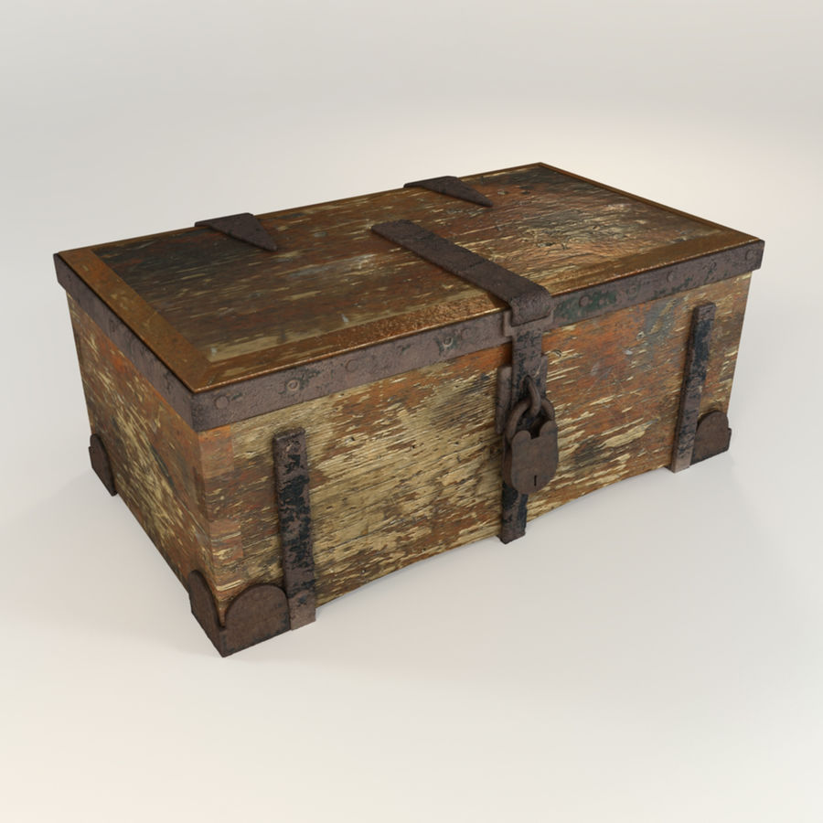 Antique Trunk royalty-free 3d model - Preview no. 1