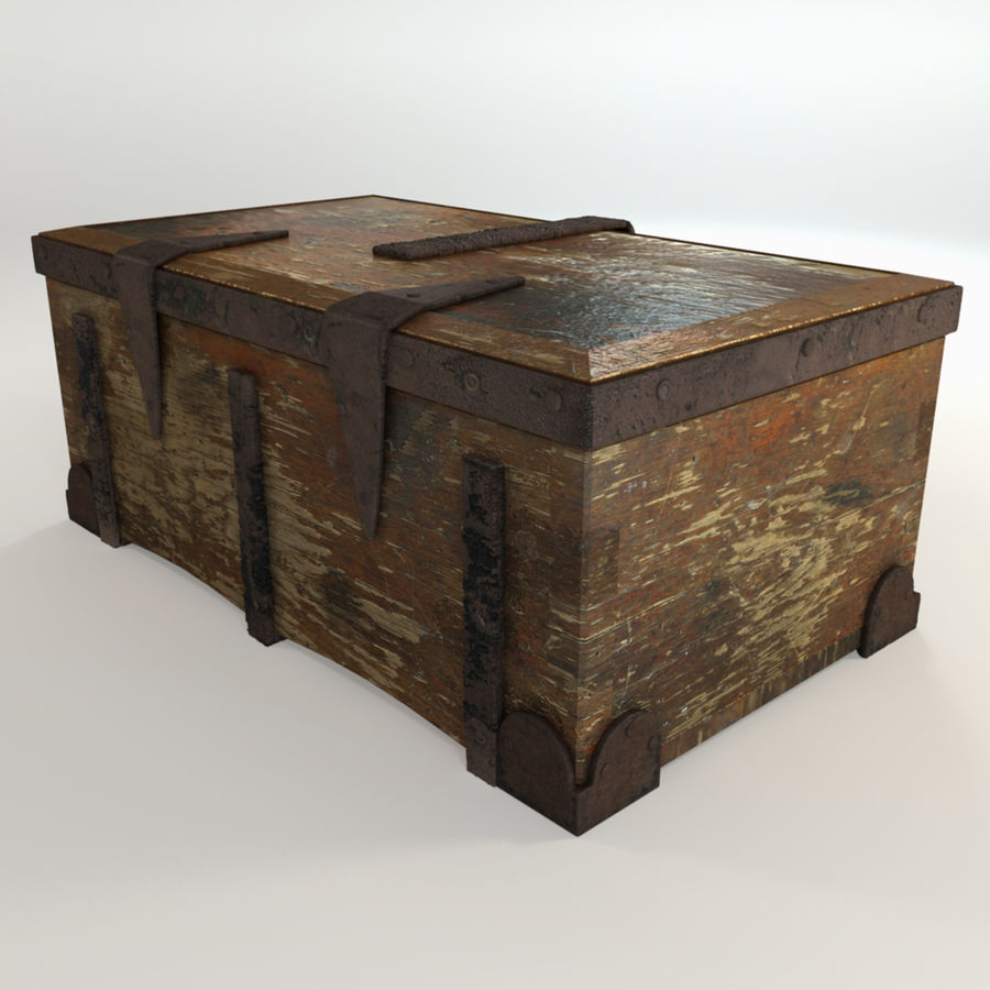Antique Trunk royalty-free 3d model - Preview no. 4