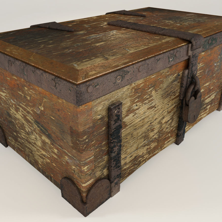 Antique Trunk royalty-free 3d model - Preview no. 5