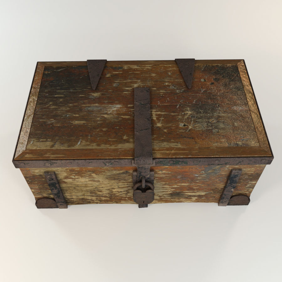 Antique Trunk royalty-free 3d model - Preview no. 3