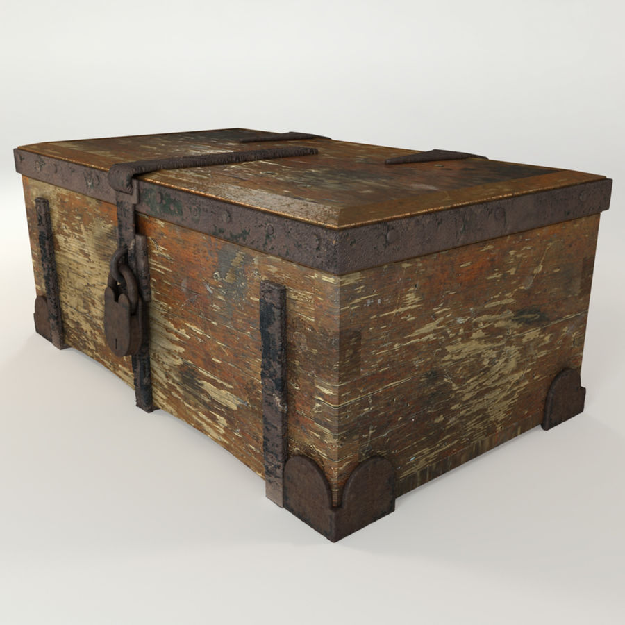 Antique Trunk royalty-free 3d model - Preview no. 2