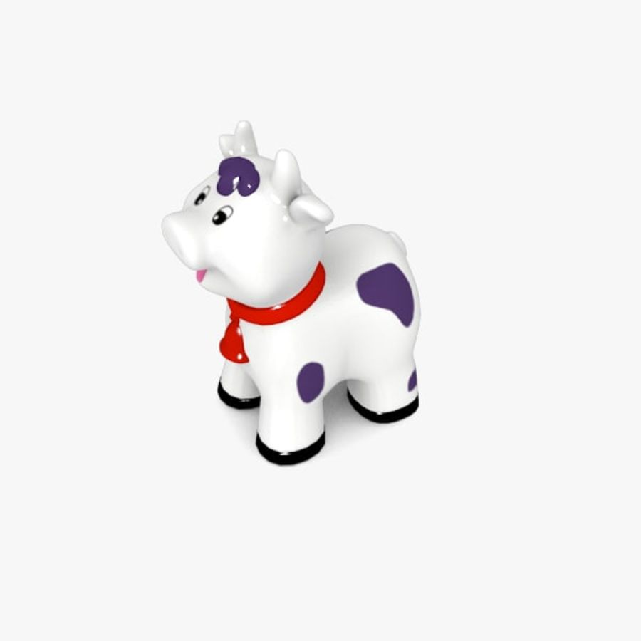 Happy Cow toy royalty-free 3d model - Preview no. 4