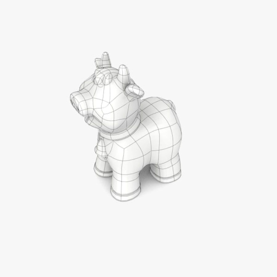 Happy Cow toy royalty-free 3d model - Preview no. 7