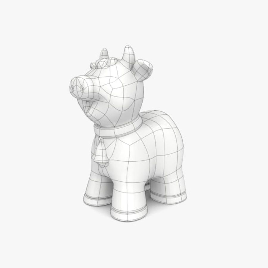 Happy Cow toy royalty-free 3d model - Preview no. 6