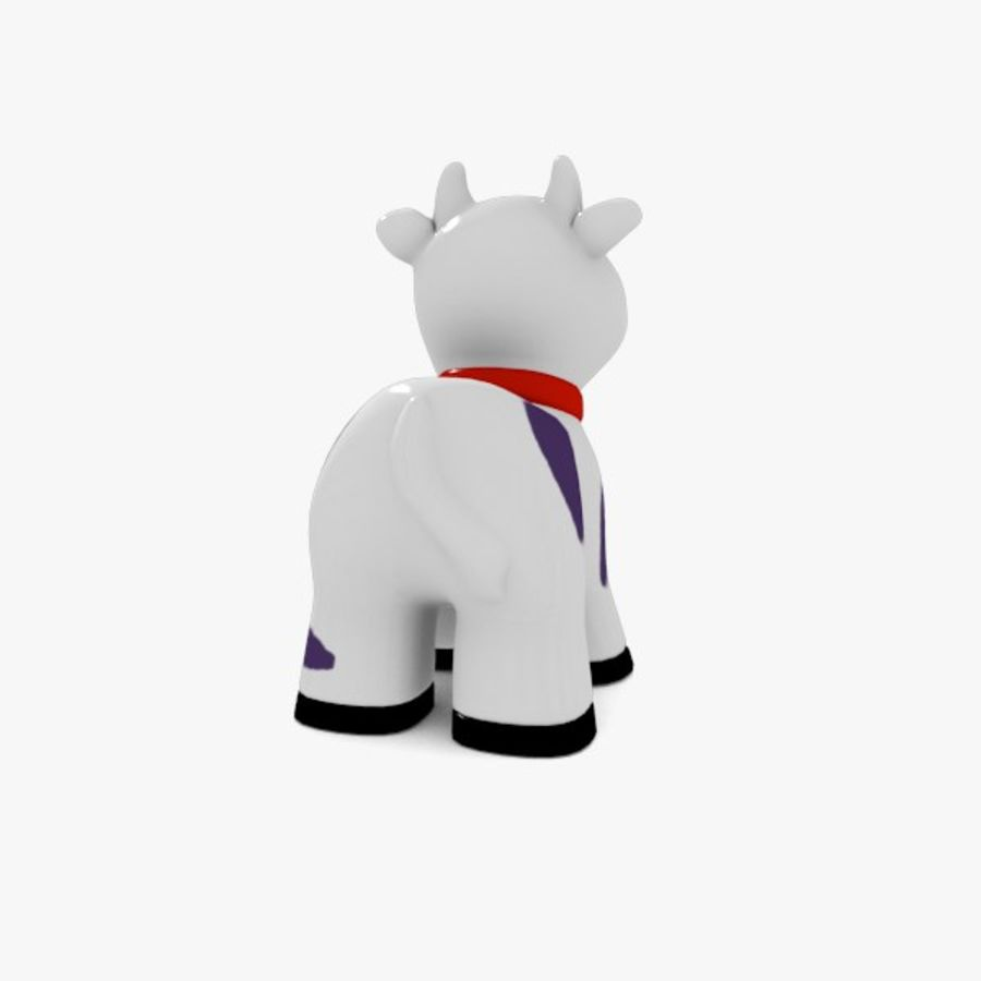 Happy Cow toy royalty-free 3d model - Preview no. 5