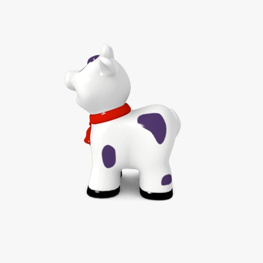 Happy Cow toy royalty-free 3d model - Preview no. 3