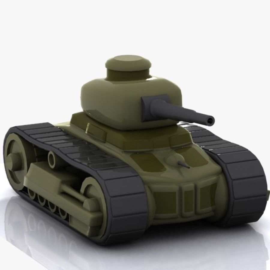 Cartoon Tank royalty-free 3d model - Preview no. 5