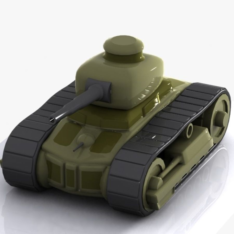 Cartoon Tank royalty-free 3d model - Preview no. 1