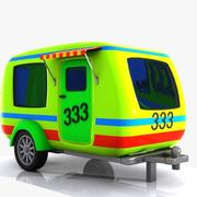 Cartoon Caravan 1 3d model