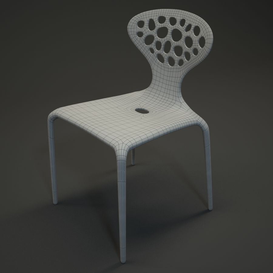 Bovennatuurlijke stoel royalty-free 3d model - Preview no. 8
