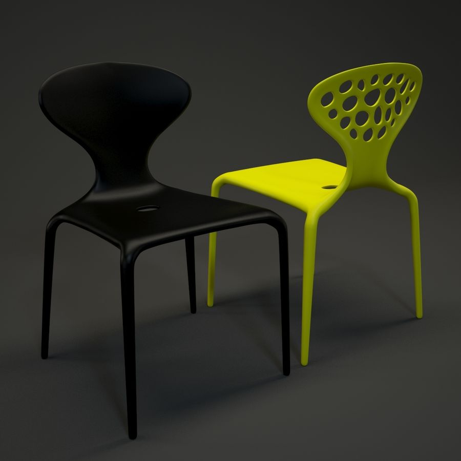 Bovennatuurlijke stoel royalty-free 3d model - Preview no. 2