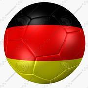 Bandiera Germania pallone da calcio 3d model