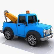 Cartoon Tow Truck 3d model