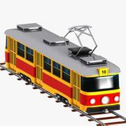 Cartoon Tram 3d model