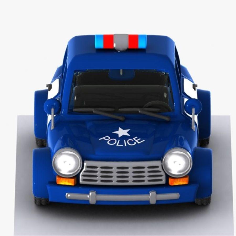 Kreskówka samochód policyjny royalty-free 3d model - Preview no. 9
