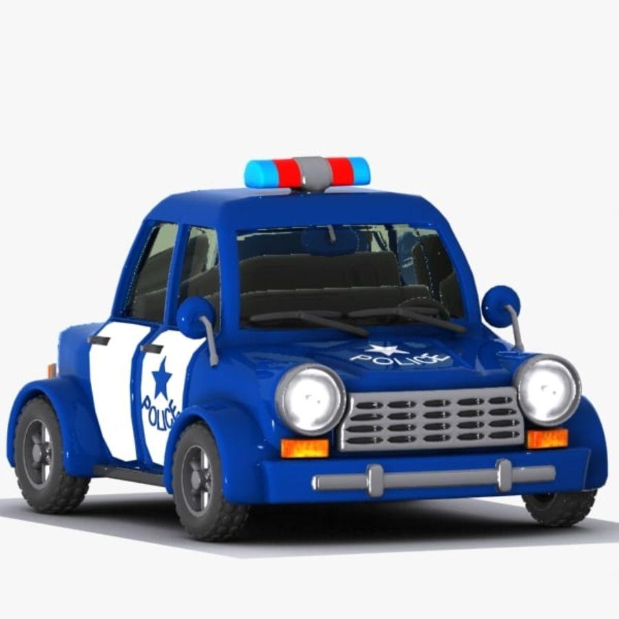 Kreskówka samochód policyjny royalty-free 3d model - Preview no. 4