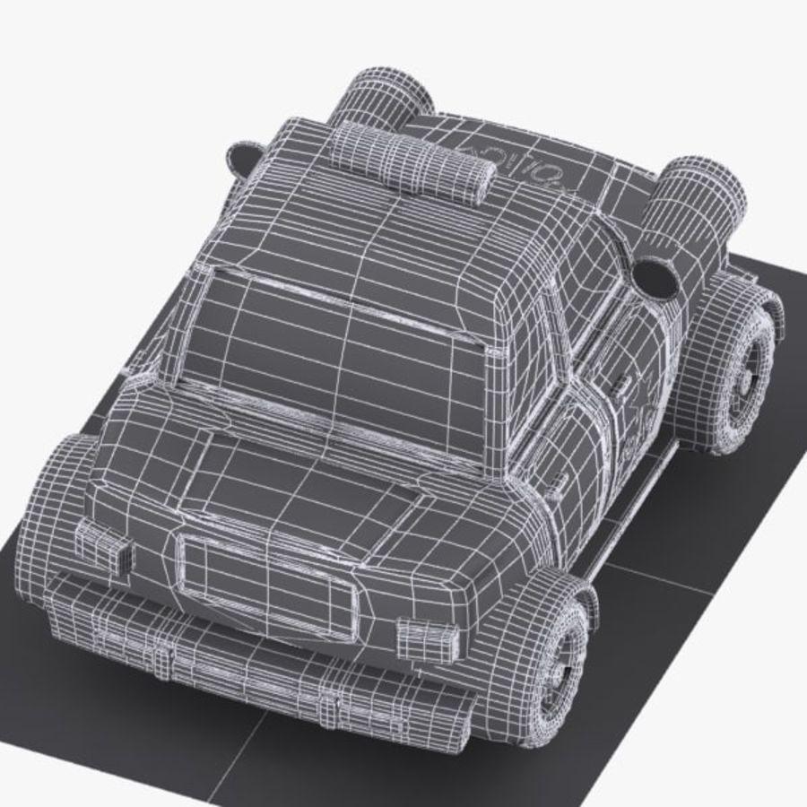 Kreskówka samochód policyjny royalty-free 3d model - Preview no. 13