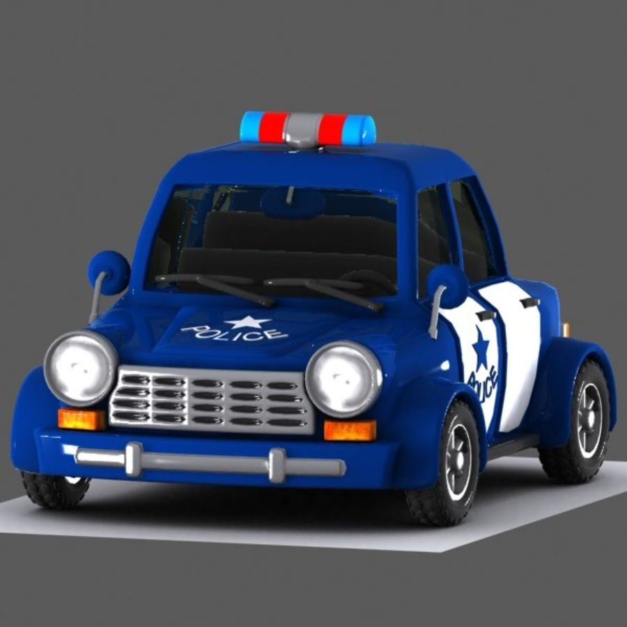 Kreskówka samochód policyjny royalty-free 3d model - Preview no. 2