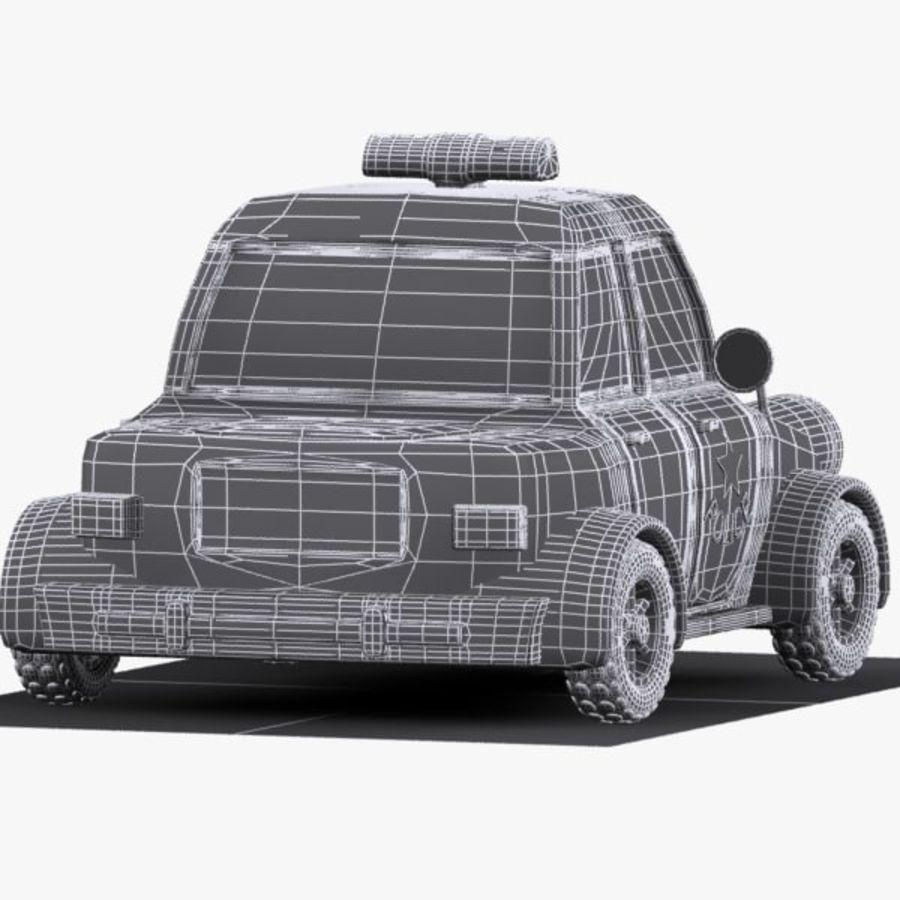 Kreskówka samochód policyjny royalty-free 3d model - Preview no. 12