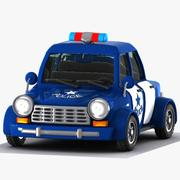 Tecknad polisbil 3d model