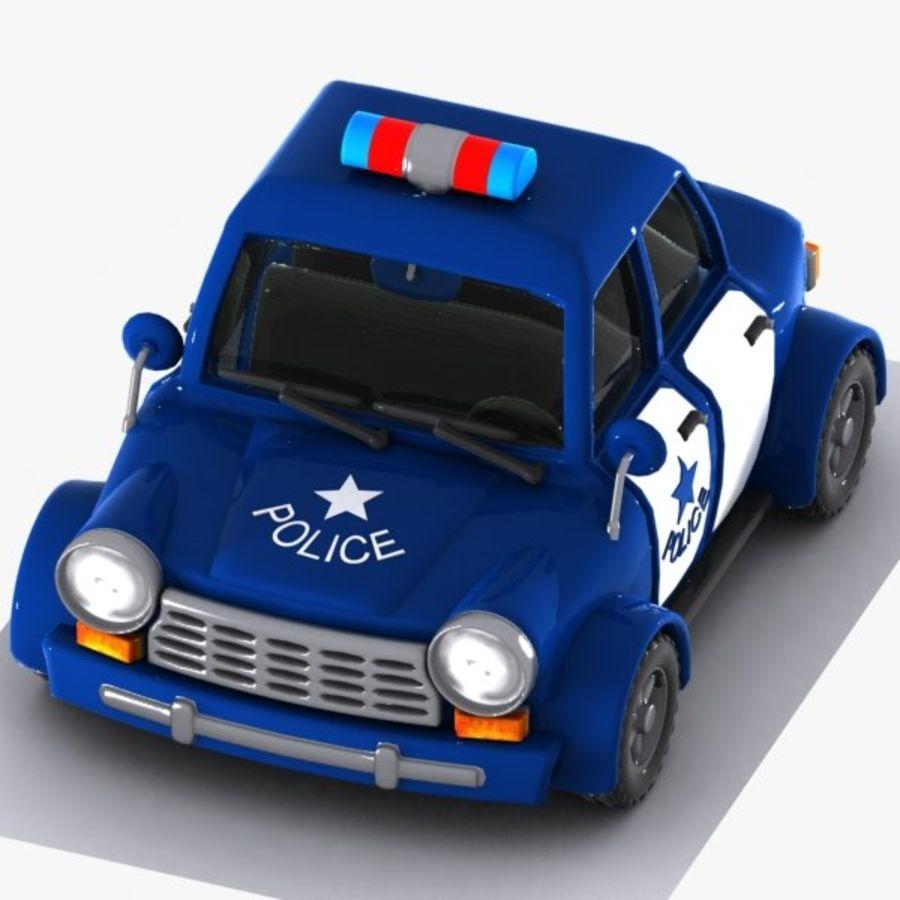 Kreskówka samochód policyjny royalty-free 3d model - Preview no. 3