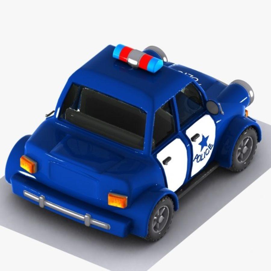 Kreskówka samochód policyjny royalty-free 3d model - Preview no. 8