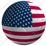Soccer Ball USA Flagga 3d model