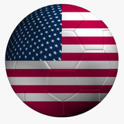 Soccer Ball USA Flag 3d model