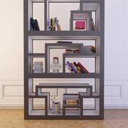 Bibliothèque avec des livres 6 3d model