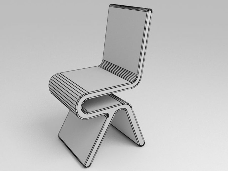 Mobília futurista: conjunto de design ultramoderno de mesa e cadeira royalty-free 3d model - Preview no. 6