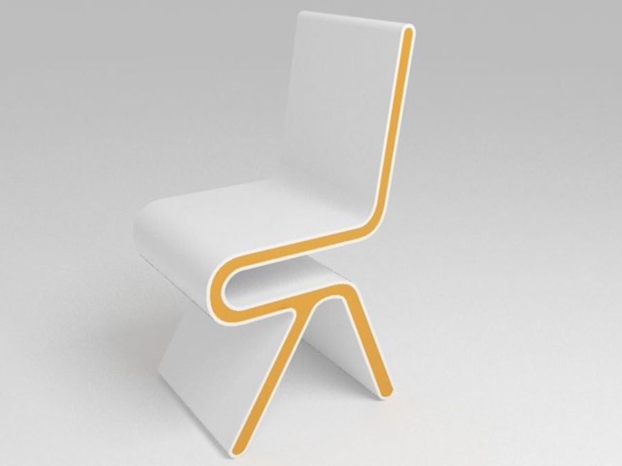 Futuristic Furniture: Ultramodern Desk & Chair Design Set royalty-free 3d model - Preview no. 5
