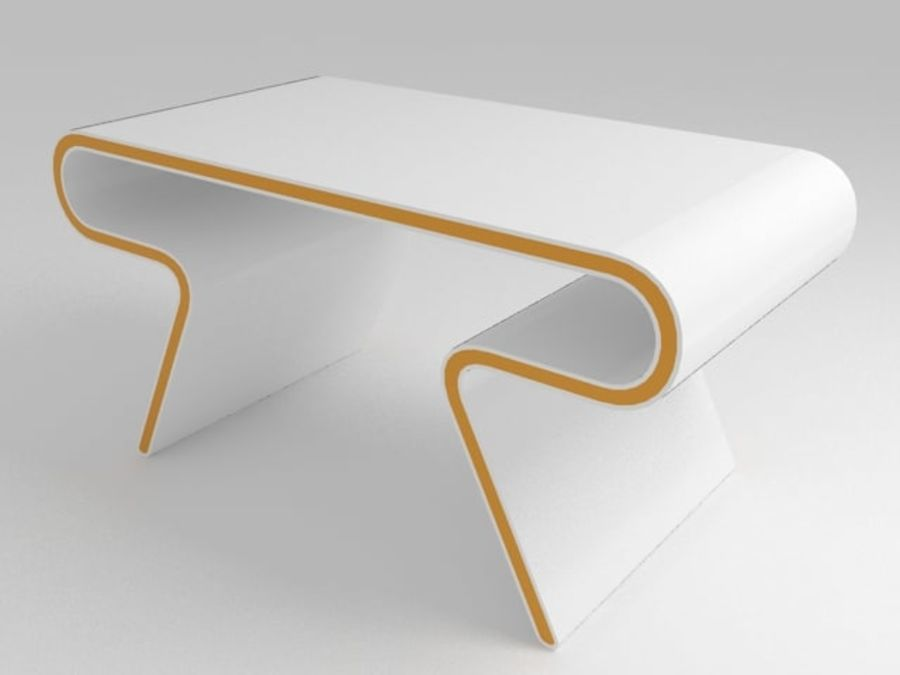 Mobília futurista: conjunto de design ultramoderno de mesa e cadeira royalty-free 3d model - Preview no. 2