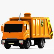 Cartoon vuilniswagen 3d model