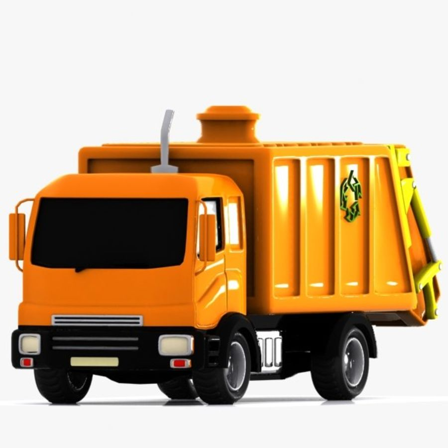 Cartoon Garbage Truck royalty-free 3d model - Preview no. 1