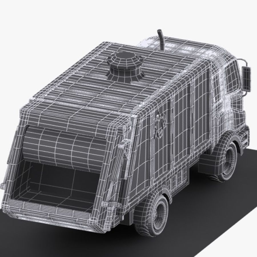 Cartoon Garbage Truck royalty-free 3d model - Preview no. 11