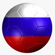 Ballon de foot drapeau russie 3d model