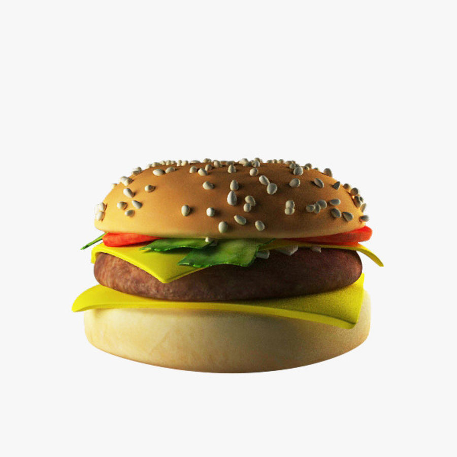 バーガー royalty-free 3d model - Preview no. 2