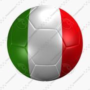 Soccer Ball italy Flag 3d model